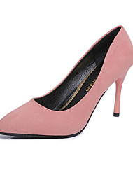 Women's Heels Spring Fall Comfort PU Casual Low Heel Black Pink Red Fuchsia Other