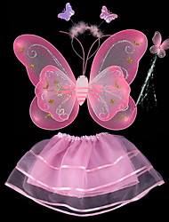 Child Angel Wings Feather Double Butterfly Wings 4 Sets