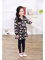 Girl Casual/Daily / Sports Print Jacket & Coat,Cotton Winter / Fall Long Sleeve