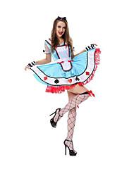 Fête / Célébration Déguisement Halloween Bleu Ciel Couleur Pleine Robe / Pantalon / Gants / Coiffure Halloween / Noël / Carnaval Féminin