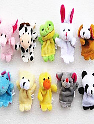 Mini - Plush Small Animal Hand Doll Toys Fabric