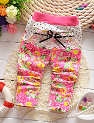 Girl Casual/Daily Print Pants-Cotton Winter