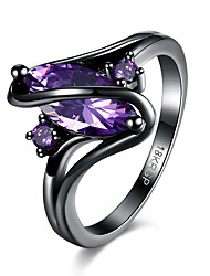 Women's Rings Statement Rings Jewelry Hallowas/Party/Daily/Wedding Fashion Cubic Zirconia Copper Purple 1pc Gift
