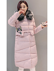 Sign new large size winter coat Girls long paragraph Slim Down Nagymaros collar coat thick padded