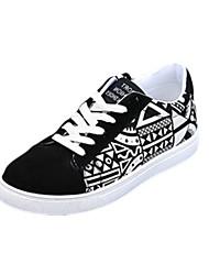 Da uomo-Sneakers-Casual-Comoda-Piatto-PU (Poliuretano)-Nero Blu Bianco