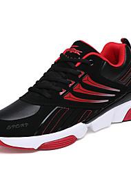 Masculino-Tênis-ConfortoAzul Preto e Vermelho Preto e Branco-Couro-Para Esporte