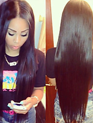 10-26inch in Stock Straight Middle Part Brazilian Human Hair Lace Front Wig