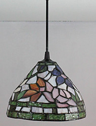 25W Pendant Light ,  Modern/Contemporary / Tiffany Painting Feature for Mini Style Glass Bedroom / Entry