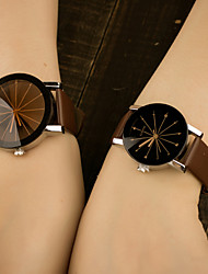 Men Women's Fashion Watch Quartz Colorful PU Leather Band Casual Blue Brand Watch