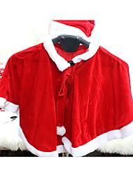 Costumes de Cosplay Costumes de père noël Fête / Célébration Déguisement Halloween Rouge Couleur PleineChâle / Chapeau / Plus