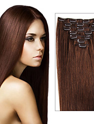 Clip in Remy Brazilian Virgin Real Human Hair Extensions Straight Multi-ply Colors for Choose Beauty Hair Style For Women