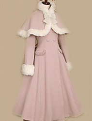 Coat Sweet Lolita Princess / Elegant Pink Lolita Accessories Coat Solid / Bowknot For Women Velvet