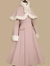 Manteau Doux Princesse Elégant Incanardin Accessoires Lolita  Manteau Couleur Pleine Nœud papillon Pour Femme Velours