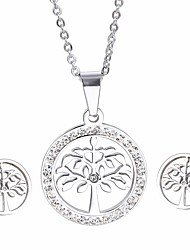 Kalen Cheap Fashion Stainless Steel Jewelry Sets Tree Of Life Pendant Necklace And Earrings Sets Friendship Gifts For Girls Women