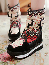 Women's Boots Winter Comfort Fabric Casual Flat Heel Others Black Other