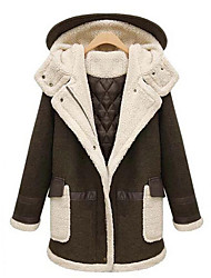 Women's Popular Winter Warm  Plus Size Loose Thick Coat with Hoodie Long Sleeve