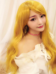 Lolita Wigs Sweet Lolita Lolita Long Yellow Lolita Wig 75 CM Cosplay Wigs Wig For Women