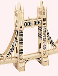 Quebra-cabeças Quebra-Cabeças de Madeira Blocos de construção DIY Brinquedos Cisne / Castelo 1 Madeira Ivory Modelo e Blocos de Construção