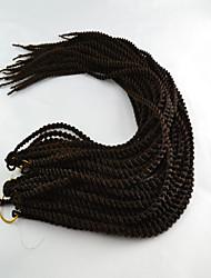 #1 / #1B Сенегал Наращивание волос 18 Kanekalon 2 нитка 160g грамм косы волос