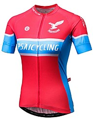 Sports Women's Short Sleeve BikeBreathable / Quick Dry / Ultraviolet Resistant / Anti-Eradiation / Wearable / Antistatic / High