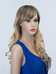 Beautiful Long Capless Wigs Natural Wavy Human Ombre Hair