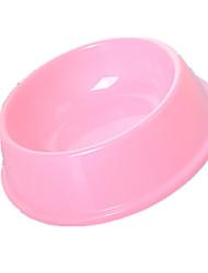 Chat Mangeoires Animaux de Compagnie Bols & alimentation Portable Bleu / Rose Plastique