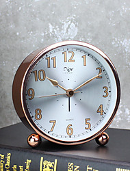 Alarm Clock with Matel Case Modern Style Silver Color Silent Movment