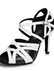 Zapatos de baile(Blanco) -Latino / Jazz / Zapatillas de Baile / Moderno-Personalizables-Tacón Cuadrado