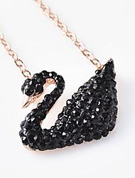 Colliers Tendance / Pendentif de collier Bijoux Quotidien / Décontracté Pendant Argent sterling Femme 1pc Cadeau Noir / Or Rose