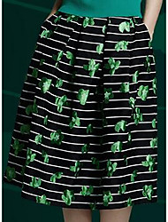 Women's Casual/Daily Knee-length Skirts A Line Print Fall