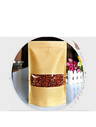 Aluminum Foil Kraft Paper Bags,Self-Styled,Self-Reliance,Food Packaging,A Pack of Ten,9*14+3cm