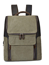 New Men Women Casual Lapotop Backpack Canvas Leather Cool School Bags Rucksack