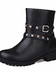 Women's Low-top Zipper Soft Material Low-Heels Round Closed Toe Boots