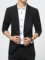 Men's Long Sleeve Regular Blazer,Cotton Solid