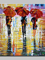 100% Hand-Painted Modern Abstract Figure Landscape Oil Painting On Canvas Wall Art For Home Decoration With Stretched Frame Ready To Hang