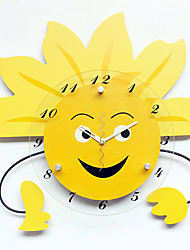 Modern/Contemporary Houses Wall Clock,Others Glass / Wood 38*38CM Indoor Clock