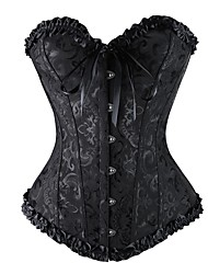 VASHEJIAN  Steampunk Corset Ruffles Lace Up Gothic Busties Overbust Corset Body Shaper Women Corset and Bustier Steampunk Corset