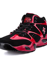 Femme-Sport-Bleu Noir et rouge Noir et blanc-Talon Plat-Mary Jane-Chaussures d'Athlétisme-Synthétique