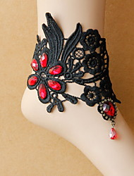 Korean Woman Alloy Lace Embroidery Anklet
