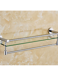 Toilet Glass Shelf With Towel Rack/Modern