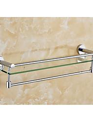 туалет стеклянная полка с вешалка для полотенец / современный