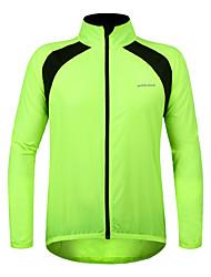 WOSAWE Maillot de Cyclisme Unisexe Manches longues Vélo Coupe-vent Maillot Etanche Pare-vent 100 % Polyester Printemps Eté Automne Hiver