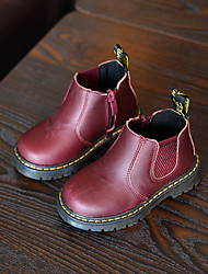 Girl's Boots Comfort Microfibre Casual Black Yellow Red