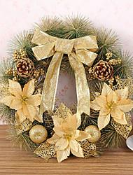 1 pc agulhas guirlanda de Natal de pinheiros decoração do Natal por 40 centímetros casa partido diâmetro navidad novos suprimentos ano