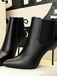 Черный-Женский-Для прогулок-ПолиуретанOthers-Ботинки