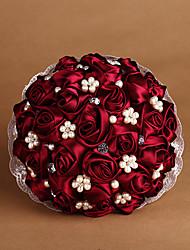 Fleurs de mariage Rond Roses Bouquets La Fête / soirée Taffetas 50cm