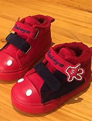 Mädchen Baby-Sneaker-Lässig-Wildleder-Flacher Absatz-Komfort-Schwarz Braun Rot