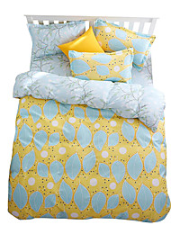 Mingjie Wonderful Blue and Yellow Bedding Sets 4PCS for Twin Full Queen King Size from China Contian 1 Duvet Cover 1 Flatsheet 2 Pillowcases
