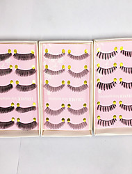 Eyelashes lash Full Strip Lashes Eyes Thick Volumized Handmade Fiber Others 0.10mm 12mm