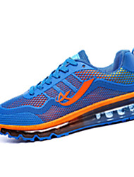 Men's Athletic Shoes Fall Winter Comfort PU Casual Flat Heel Lace-up Black Blue Navy Running